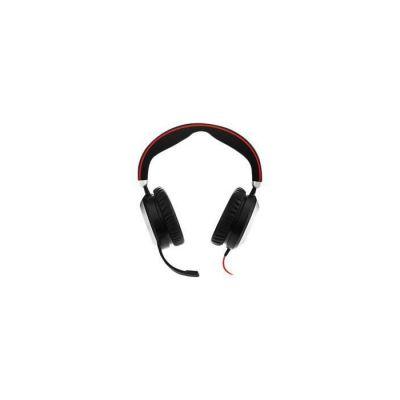image Jabra Evolve 80 UC Casque Supra-auriculaire Stereo Filaire - Casque Optimisé Unified Communications Suppression Active du Bruit - Câble USB-A et Connexions jack 3,5 mm - noir