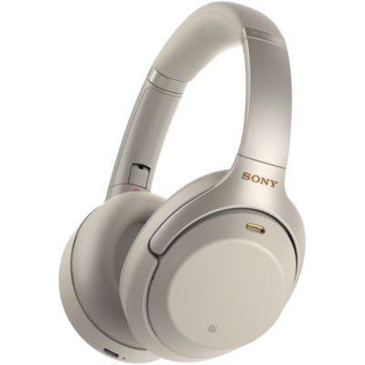 image Sony WH-1000XM3 Casque Bluetooth à réduction de bruit sans fil avec micro pour appels téléphoniques, Alexa et Google Assistant intégrés, Argent