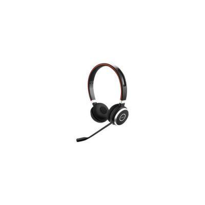 image Jabra Evolve 65 Stereo Casque supra-auriculaire sans fil - Casque certifié Microsoft avec batterie longue durée - Adaptateur Bluetooth USB - Noir