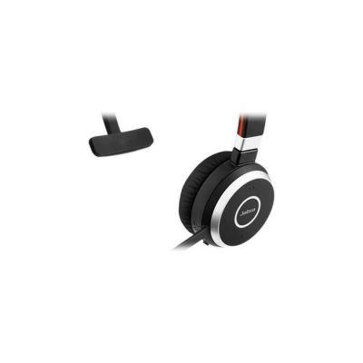 image Jabra Evolve 65 Mono Casque supra-auriculaire sans fil - Casque certifié Microsoft avec batterie longue durée - Adaptateur Bluetooth USB - Noir