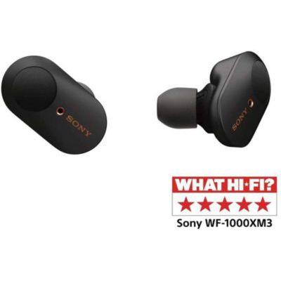 image Sony WF-1000XM3 Écouteurs sans fil Bluetooth à Réduction de Bruit True Wireless avec boitier de rechargement compatibles iOS et Android, Noir, avec Amazon Alexa Intégrée