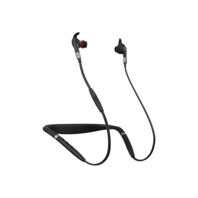 image Jabra Evolve 75e Microsoft Écouteurs sans Fil – Écouteurs Optimisés Microsoft – Collier Vibrant et Voyant Occupé – Noir
