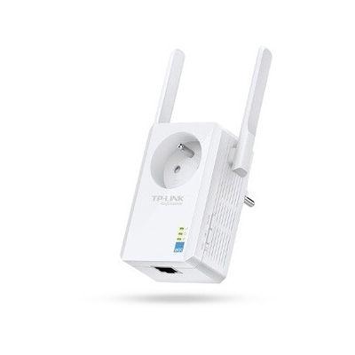 image TP-Link TL-WA865RE Répéteur - Point d'accès Wi-Fi N 300Mbps - 1 Port Ethernet - Prise intégrée - Compatible avec toutes les box internet - Augmente la portée du signal Wi-Fi  , Blanc