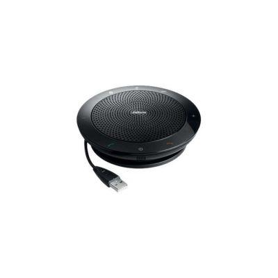 image Jabra Speak 510 Speaker – Enceinte Portable Bluetooth, Haut-Parleur pour Conférence – Connexion avec ordinateurs portables, smartphones et tablettes – Prise USB