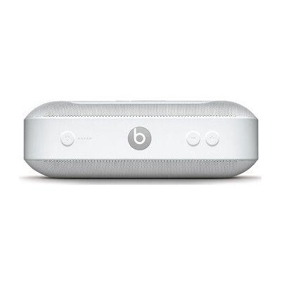 image Enceinte portable BeatsPill+ sans fil- Bluetooth stéréo, 12heures d'écoute, micro pour les appels téléphoniques- Blanc
