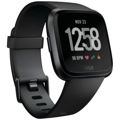 image Fitbit Versa - Montres Connectées Forme, Sport et Bien-être : Plus de 4 Jours d'autonomie, Étanche, Suivi Fréquence Cardiaque, Noir