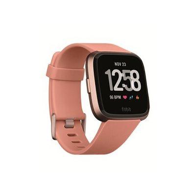image Fitbit Versa - Montres Connectées Forme, Sport et Bien-être : Plus de 4 Jours d'autonomie, Étanche, Suivi Fréquence Cardiaque, Pêche