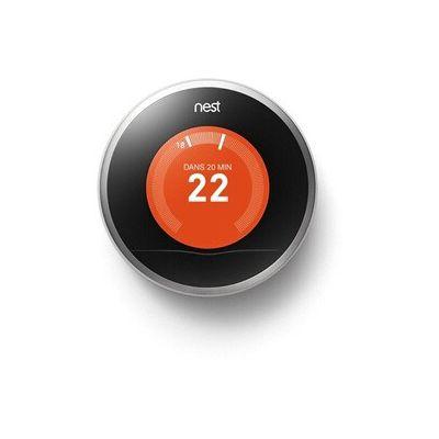 image Nest Learning Thermostat, 3e génération, acier