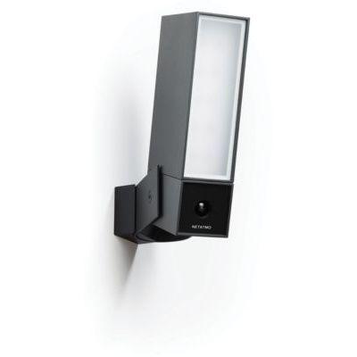 image Netatmo Caméra de Surveillance Extérieure Intelligente avec éclairage intégré Presence Sécurité, Détection de Personnes, Voitures et Animaux, Aluminium Noir