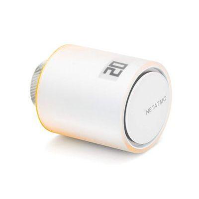 image Netatmo Tête Thermostatique Connectée et Intelligente - Accessoire pour le Thermostat Intelligent et pour le Pack pour chauffage collectif, NAV -FR