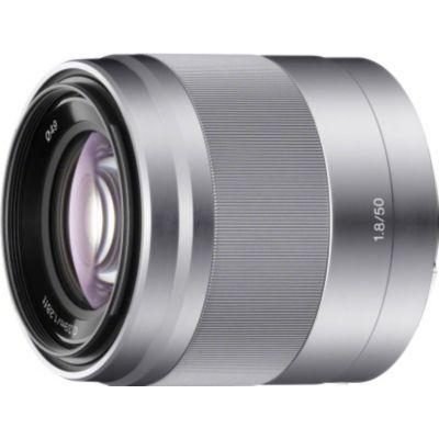 image produit Sony Objectif SEL-50F18 Monture E APS-C 50 mm F1.8 - Argent - livrable en France