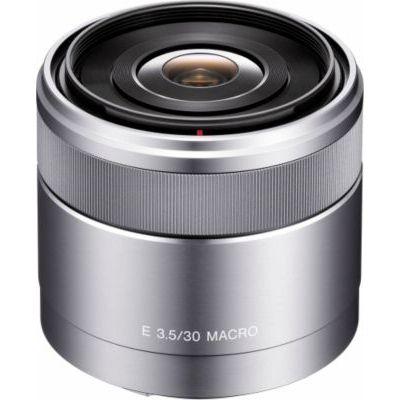 image Sony Objectif Macro SEL-30M35 Monture E APS-C 30 mm F3.5,Argent