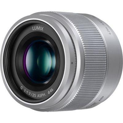 image Panasonic Lumix Objectif à focale fixe pour capteur micro 4/3 25mm F1.7 H-H025E-S (Grand angle 25mm, Très Grande ouverture F1.7, Ultra compact,  equiv. 35mm : 50mm)  Gris – Version Française