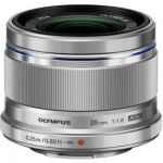 image produit Olympus M.Zuiko Objectif Digital 25mm F1.8, focale fixe lumineuse, compatible tout appareil Micro 4/3 (modèles Olympus OM-D & PEN, Panasonic G-series), Argent - livrable en France