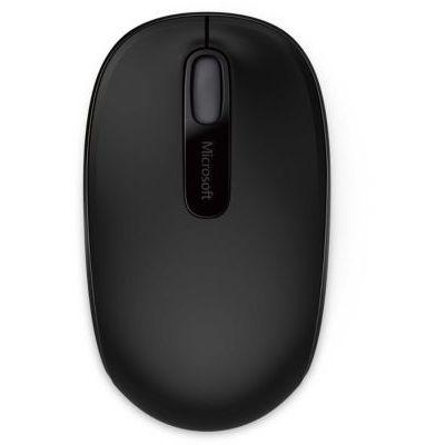 image Microsoft - Wireless Mobile Mouse 1850 - Souris sans Fil avec nano récepteur USB pour PC, ordinateurs portables compatible Windows, Mac, Chrome OS - Noir (U7Z-00004)