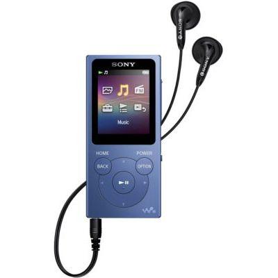 image Sony NWE394L.CEW 8 Go Walkman Lecteur MP3 avec Radio FM - Bleu & MDR-ZX310L Casque Pliable - Bleu