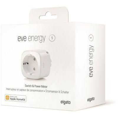 image Eve Energy - Prise intelligente avec compteur de consommation, programmes intégrés, contrôle vocal, sans passerelle intermédiaire, Bluetooth Low Energy (Apple HomeKit)