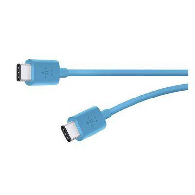 image Belkin - Câble de Charge et Synchronisation USB-C 2.0 vers USB-C pour Smartphone et Tablette - 1,8m - Bleu (Compatible Samsung Galaxy S9/S9+)