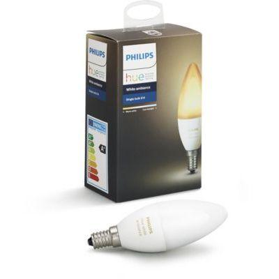 image Philips Hue White Ambiance E14 Extension de Bougie à LED, à Intensité Variable, toutes les Nuances de Blanc, Contrôlable via une Application, Compatible avec Amazon Alexa (Echo, Echo Dot)