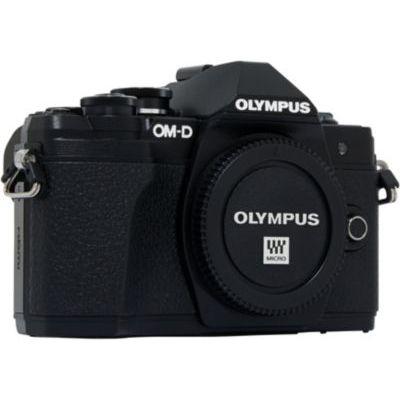 image Olympus OM-D E-M10 Mark III Boîtier nu Noir + Objectif Zuiko Digital 45 mm f:1:8 - Noir