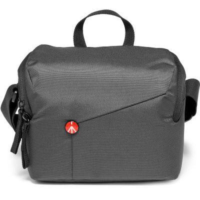 image Manfrotto MB NX-SB-IGY-2 Sac à bandoulière pour CSC, compatible avec les appareils photo sans miroir, système compact et 2 à 3 objectifs, poche en maille pour cartes mémoire, accessoires, V2 Gris