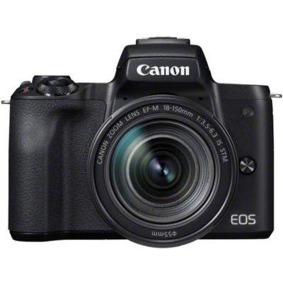 image Canon EOS M50 Appareil Photo Hybride + EFM 18150 mm F/3.56.3 STM Noir