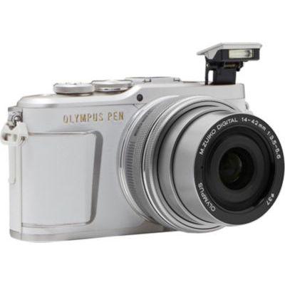 image Olympus PEN E-PL9 Kit, Appareil Photo Micro 4/3 (16,1 MP, Stabilisation d'Image 5 Axes, Viseur Électronique, Vidéo 4K) + Objectif M.Zuiko 14-42mm EZ Zoom, Blanc/Argent