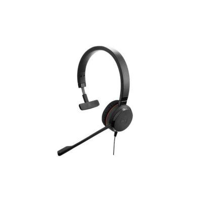 image Jabra Evolve 30 MS Mono Casque - Casque certifié Microsoft pour VoIP Softphone avec annulation passive du bruit - Câble USB avec contrôleur - Noir