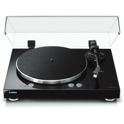image YAMAHA MusicCast Vinyl 500 Tourne-Disque de Traction par Courroie, Noir, Aluminium, 33 1/3,45 TR/Min, DC Moteur, numérique