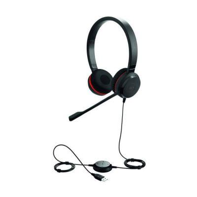 image Jabra Evolve 30 MS Casque Stereo - Casque certifié Microsoft VoIP Softphone avec annulation passive du bruit - Câble USB avec contrôleur - Noir