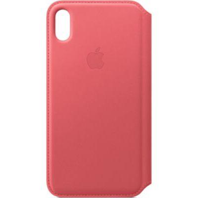 image Apple Étui Folio en Cuir (pour iPhoneXSMax)- Rose Pivoine