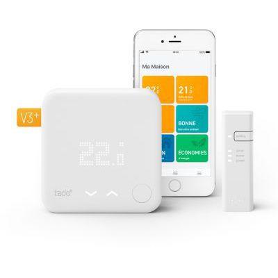 image tado° Thermostat Intelligent filaire Kit de Démarrage V3+ - Contrôle intelligent du chauffage, Installez par vous-même, Designed in Germany
