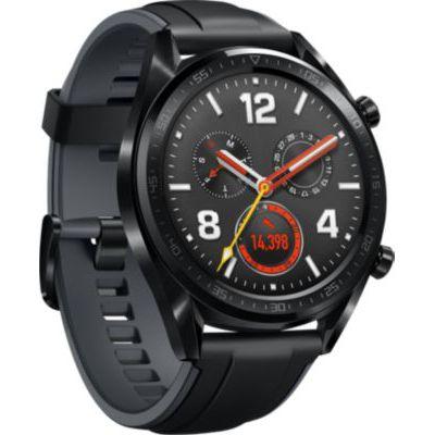 image Huawei Watch GT Montre Connectée (GPS, boîtier 46mm) avec Bracelet Sport Noir