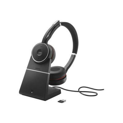 image produit Jabra Evolve 75 UC Casque Stereo sans fil supra-auriculaire - Casque Unified Communications avec batterie longue durée et station de charge - Adaptateur Bluetooth USB - Noir - livrable en France