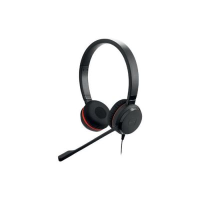 image Jabra Evolve 20 SE Stereo Headset - Écouteurs Certifiés Microsoft Teams pour Softphone VoIP avec Suppression Passive du Bruit - Câble USB-A avec Contrôleur - noir