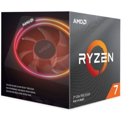 image produit AMD Ryzen 7 3700X, AM4, Zen 2, 8 Core, 16 Thread, 3.6GHz, 4.4GHz Turbo, 32MB L3, PCIe 4.0, 65W, CPU, Wraith Prism - livrable en France
