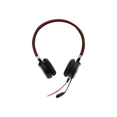 image Jabra Evolve 40 MS Stereo Headset - Casque Certifié Microsoft Teams pour Softphone VoIP avec Suppression Passive du Bruit - Câble USB-C avec Contrôleur - noir