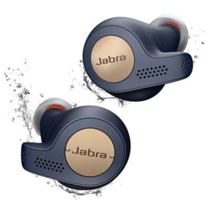 image Ecouteurs Jabra Elite Active 65t  -Sans fil - Bluetooth à Isolation passive et capteur de mouvement pour le suivi - Bleu cuivre