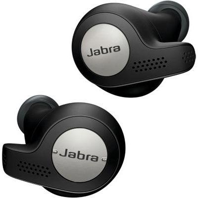 image Jabra Elite Active 65t Écouteurs - Écouteurs de sport Bluetooth à Isolation passive du bruit avec capteur de mouvement pour le suivi - Sans fil - Noir titane