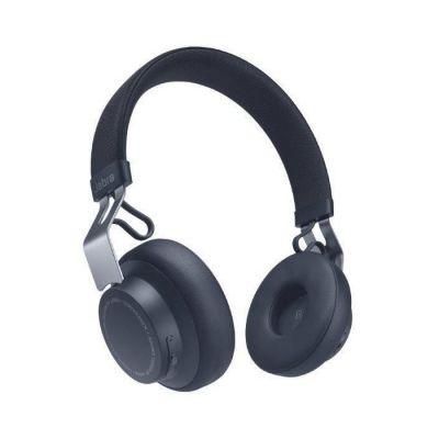 image Jabra Écouteurs Supra-auriculaires Move Style Edition – Se Connecte avec les Smartphones, Ordinateurs et Tablettes Bluetooth pour la Musique et les Appels sans Fil – Bleu Marine
