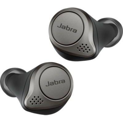 image Jabra Elite 75t - Écouteurs Bluetooth avec réduction de bruit active et autonomie élevée de la batterie pour appels et musique sans fil - Noir titane