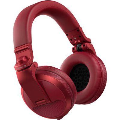 image Pioneer DJ HDJ-X5BT-R Bluetooth DJ Headphones, Red