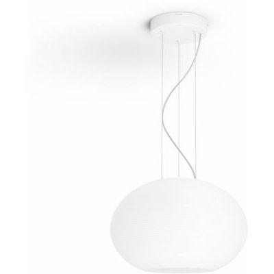 image Philips Hue Blanc & Color Ambiance Suspension Flourish Blanc Compatible Bluetooth 31 W, Fonctionne avec Alexa