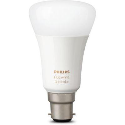 image Philips Hue Ampoules LED Connectées White & Color Ambiance B22 Compatible Bluetooth, Fonctionne avec Alexa Pack de 2