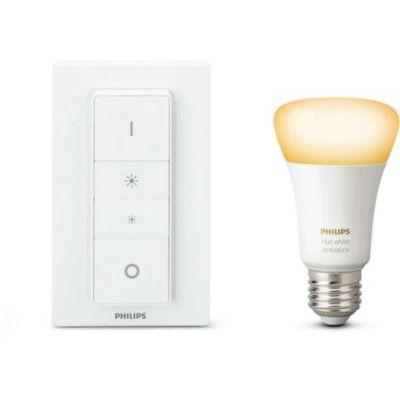 image Philips Hue Light Recipe Kit White Ambiance E27 avec télécommande variateur de lumière Compatible Bluetooth, Fonctionne avec Alexa