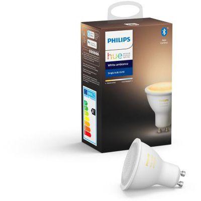 image Philips Hue Ampoule LED Connectée White Ambiance GU10 Compatible Bluetooth, Fonctionne avec Alexa