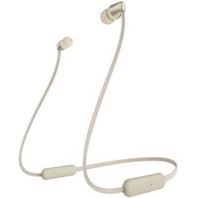 image Sony WI-C310 Ecouteurs Intra-Auriculaires Bluetooth sans Fil - Style Tour de Cou à Finition Métal - Doré