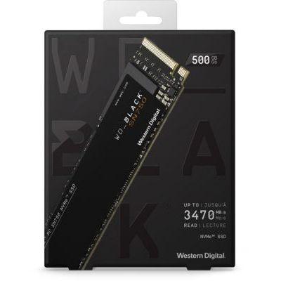 image SanDisk WD Black SN750 NVMe SSD WDBGMP5000ANC - Disque SSD - 500 Go - Interne - M.2 2280 - PCI Express 3.0 x4 (NVMe) - dissipateur Thermique intégré