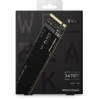 image WD Black SSD interne 1To SN750   (PCIe, M.2 NVMe, 3470 Mo/s ) + Dissipateur
