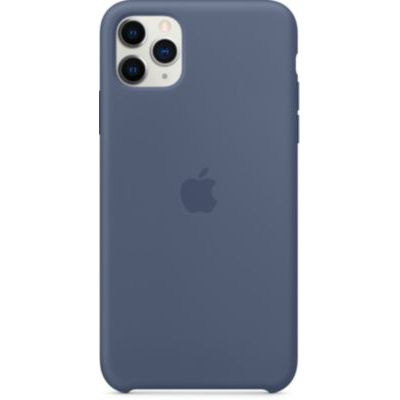 image Apple Coque en Silicone (pour iPhone 11 Pro Max) - Bleu d'Alaska